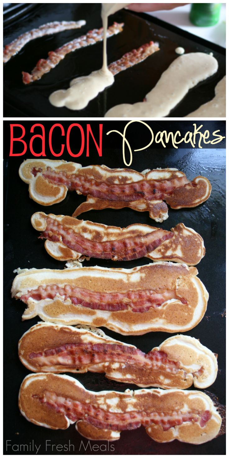 Bacon Pancakes! So fun and easy to make for a special breakfast :)