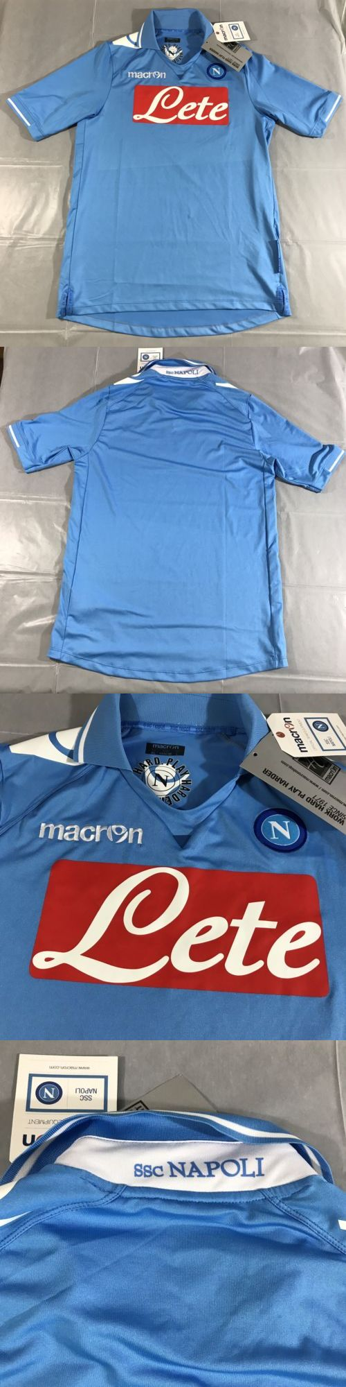 Soccer-International Clubs 2887: Ssc Napoli Maglia Gara Home Soccer Jersey Shirt L Macron Italy Futbol Football -> BUY IT NOW ONLY: $37.11 on eBay!