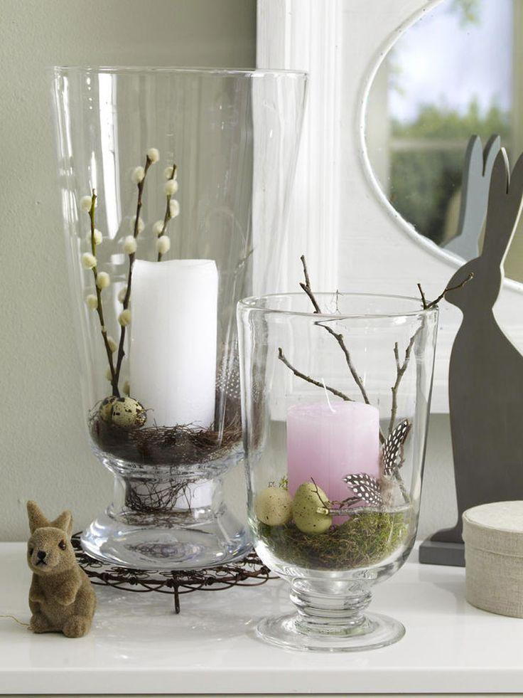 Mit nur wenigen Handgriffen verwandeln wir unsere schlichten Windlichter in einer charmante Osterdeko. Was Ihr dafür braucht? Wir verraten