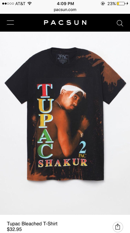 bleached tupac t-shirt