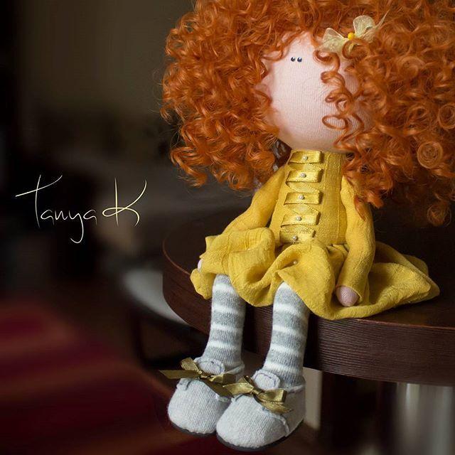 Tanya K #куклаинтерьерная #кукла #кукларучнойработы #куклатекстильная