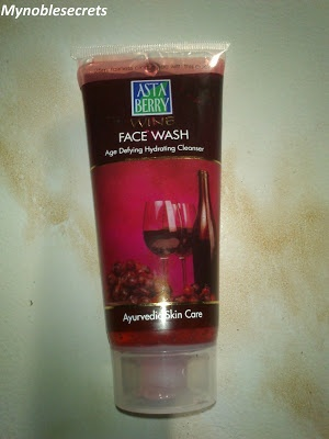 Hello Friends,  Finally I have got time to Review for Astaberry Wine Face Wash Age Defying Hydrating Cleanser. I know I am changing my Face wash often(It is not good). Still, I am in serious search for a Good Face wash which will suits for my Sensitive oily Skin type. I am not satisfied with any fa