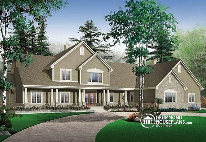W3600 5 To 6 Bedrooms Traditional Bungalow House Plan