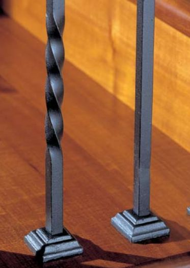 Italian Wrought Iron Balusters And Newels.
