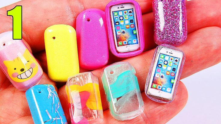 Miniature Phone Cases iPHONE Barbie accessories DIY