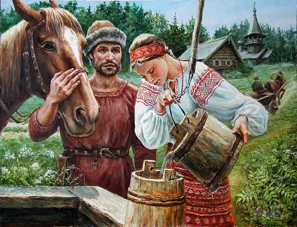 Встреча у колодца, автор Щрилёв Михаил. Артклуб Gallerix