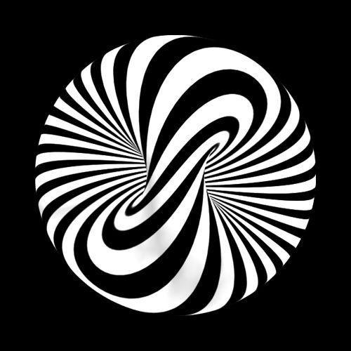 Des .gif noir et blancs hypnotiques #2 gif psychedelique hypnose animation 12 design