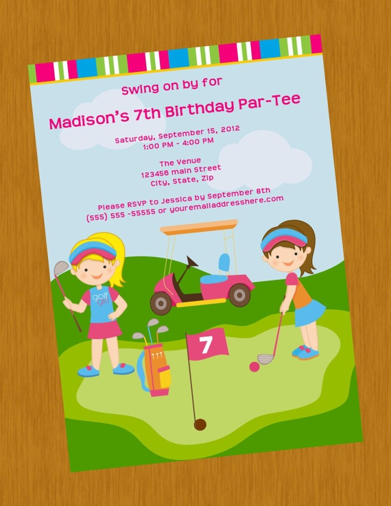 11 best mini golf party images – Mini Golf Birthday Party Invitations