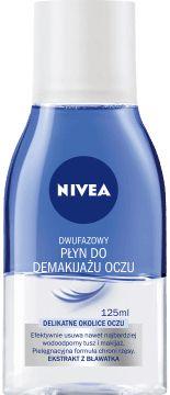 NIVEA,  dwufazowy płyn do demakijażu oczu, delikatne okolice oczu, 125 ml, nr kat. 124125