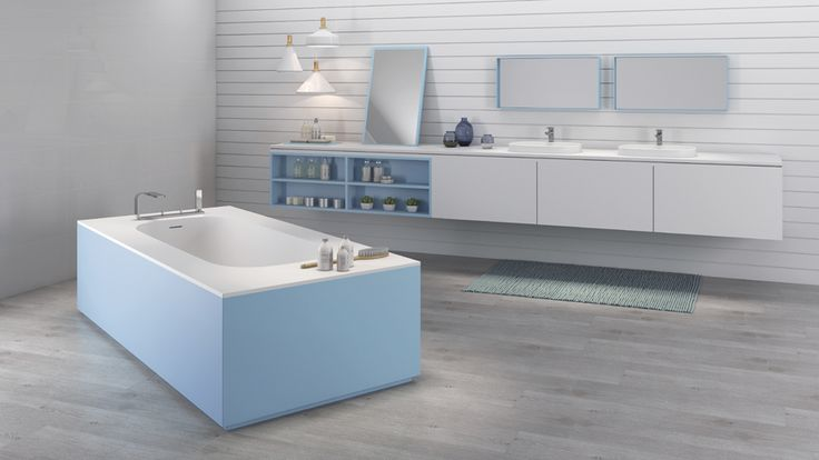 The Unique collection of Krion® custom-made bathrooms attracts attention at the XXII Porcelanosa International Exhibition