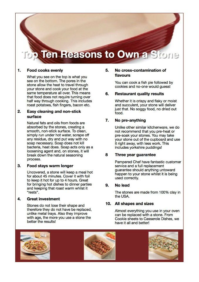 Top 10 reasons to OWN Pampered Chef stone wear.