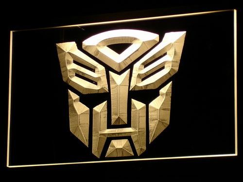 Transformers Autobots Icon LED Neon Sign