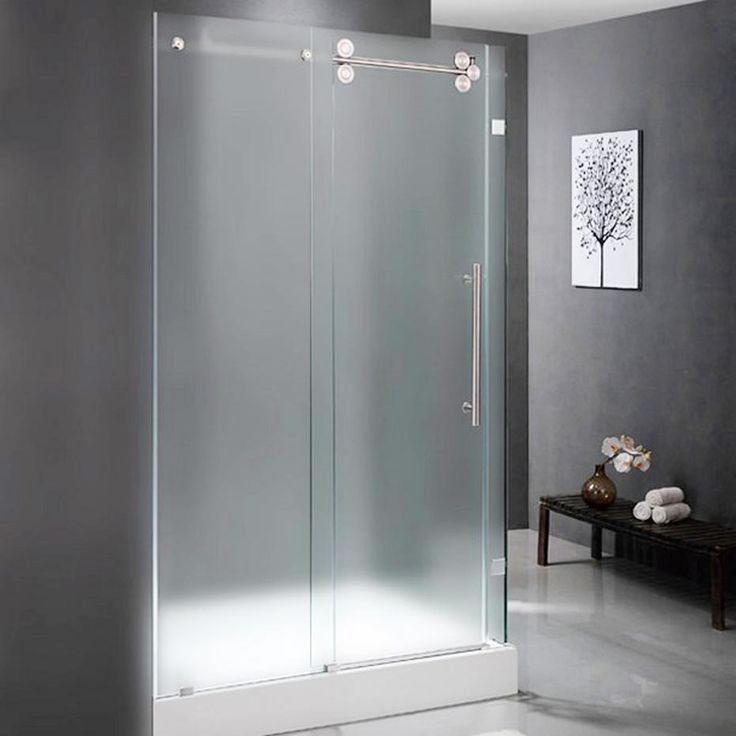 Frosted Glass Shower Doors 55 best glass shower doors images on pinterest | glass showers