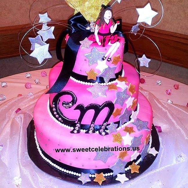 """""""Glitter And Glamour 18th Birthday Cake By Laurie Clarke"""