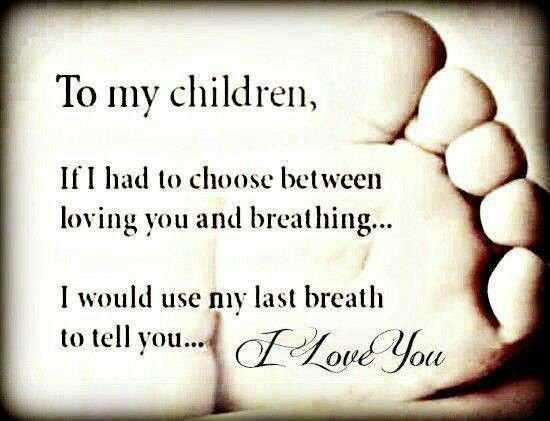A mothers love. I'd do anything for my children❤