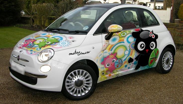 Fiat 500 car wrap by Metso & Maru HOT Pinterest Cars