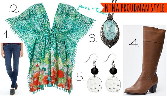 Nina Proudman Offspring inspired look from Season 4 Ep 2 - the style of the kaftan should be easy with two retangles