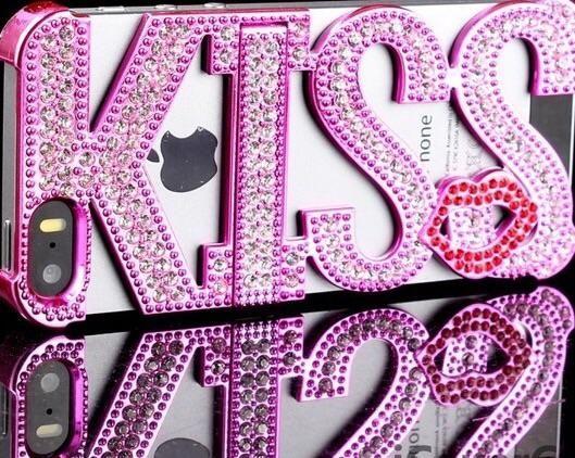 FoneBitz - Kiss detail bling case for iPhone 5/5s