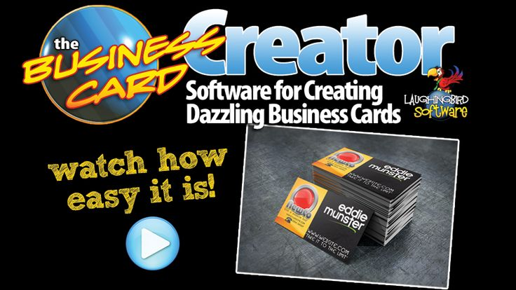 Design your own business cards with The business Card Creator by Laughingbird Software! A fun and easy way to create professional quality Cards! Mac/Windows