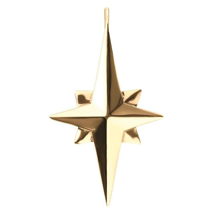 18ct Yellow Gold Vermeil and Sterling Silver Star Charm | From a unique collection of vintage pendant necklaces at https://www.1stdibs.com/jewelry/necklaces/pendant-necklaces/