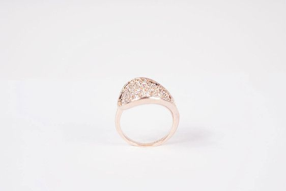 Asymmetric Elegant Ring - Golden Eight