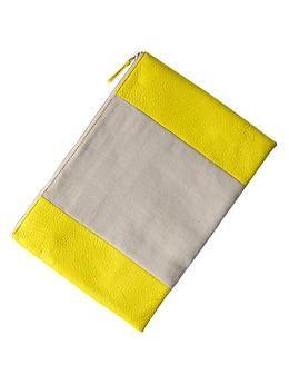 yellow + canvas cluch // gap // $30