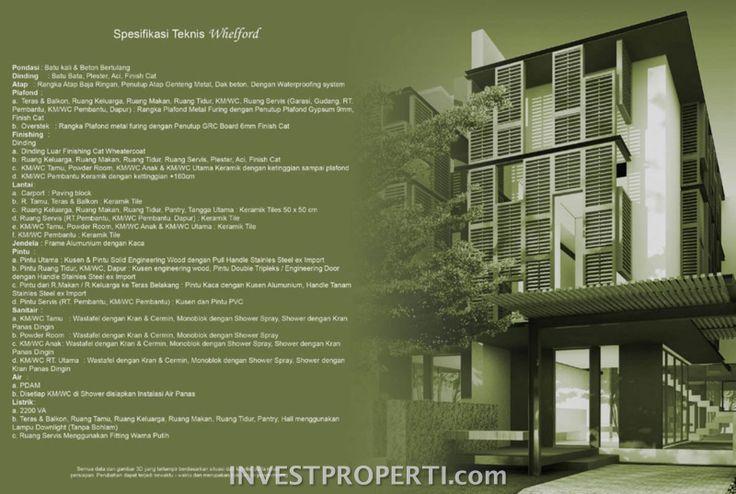 Spesifikasi bangunan rumah Whelford Greenwich Park BSD #greenwichparkbsd