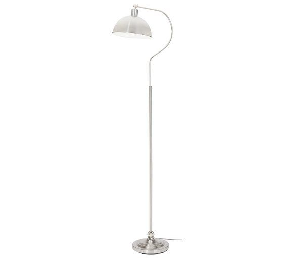 Epic Buy HOME Coral Curved Floor Lamp Satin Nickel at Argos co uk
