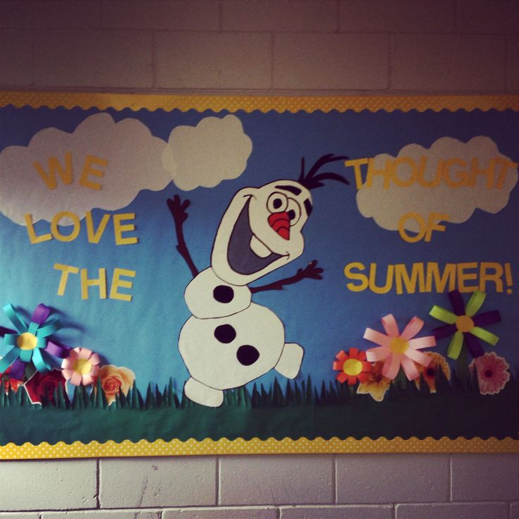 Summer bulletin board with Olaf!