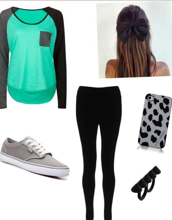 Cute outfit ! but boots with leggings not vans cause i think it looks really funny when girls ...