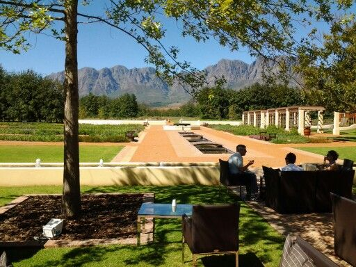 The Stables Bistro - Vergelegen Wine Estate - Somerset West - Cape Town. Beautiful views outside of the encircling Hottentots-Holland mountain. In winter....two fireplaces inside keep the coats away! They even have wonderful outside playing area for children around the corner.
