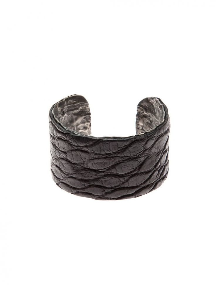 RENE TALMON L'ARMEE - Silver Lamb Leather Cuff - COMOE II/DETACHABLE CROCO - H. Lorenzo