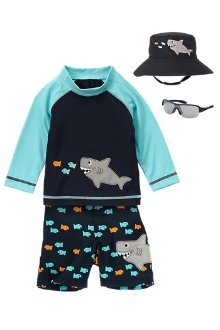 It's that time of year to start looking at swimwear for the kids. Aiden will need one of the swim shirts to cover his scar.  This is the best one i've found so far.