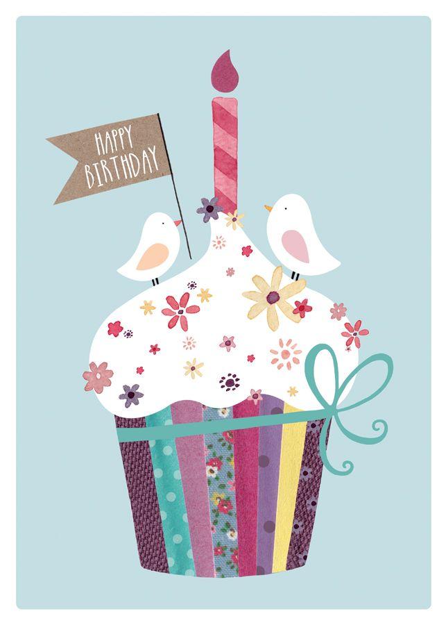 Cupcake and birds