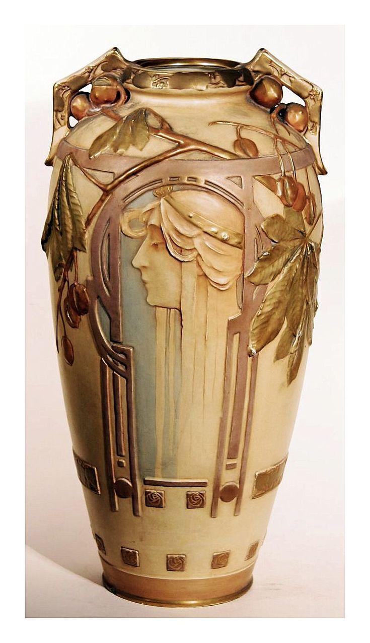 Tall Vase, ceramic amphora - ca.1900.