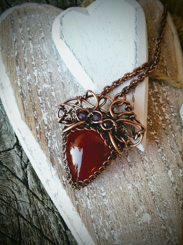 Carnelian copper nacklace