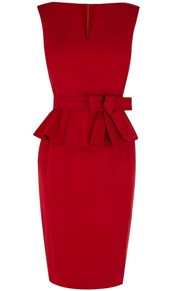 Karen Millen Peplum Dress