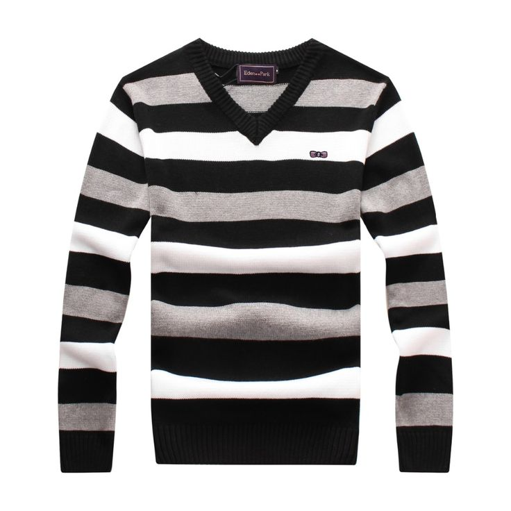 >> Click to Buy << Eden park 2017 New Autumn Winter Casual Fashion 100% Cotton Sweater Men Striped Pullovers Knitwear V-neck free shipping 867 #Affiliate
