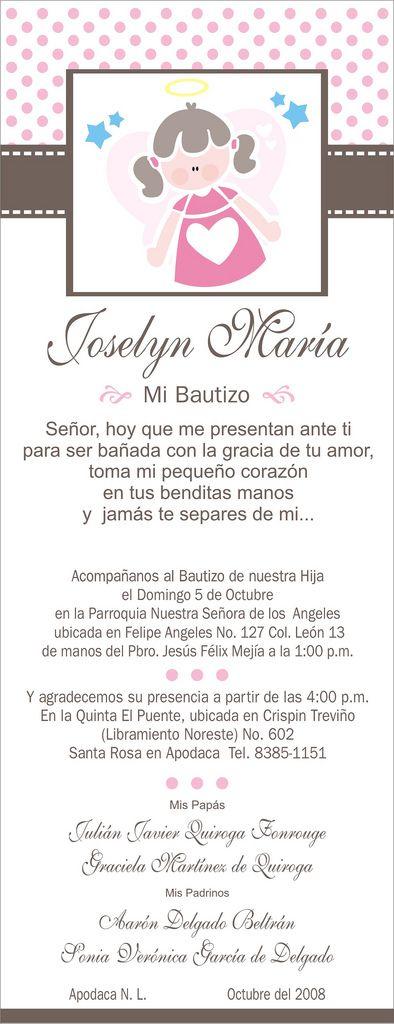 Invitacion Bautizo Joselyn | Flickr: Intercambio de fotos