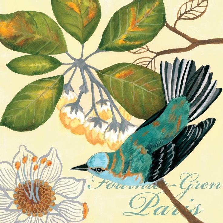 Jennifer Brinley - Bird Garden-Passion Flower.