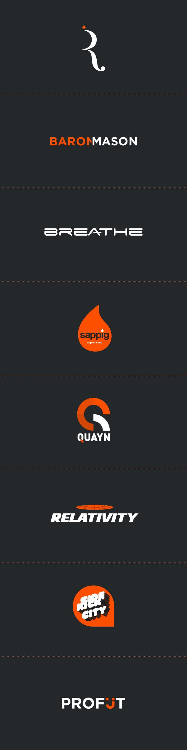A variety of logo from different clients