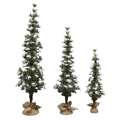Holiday Living 3-Count Winter Snow Artificial Christmas Tree Set