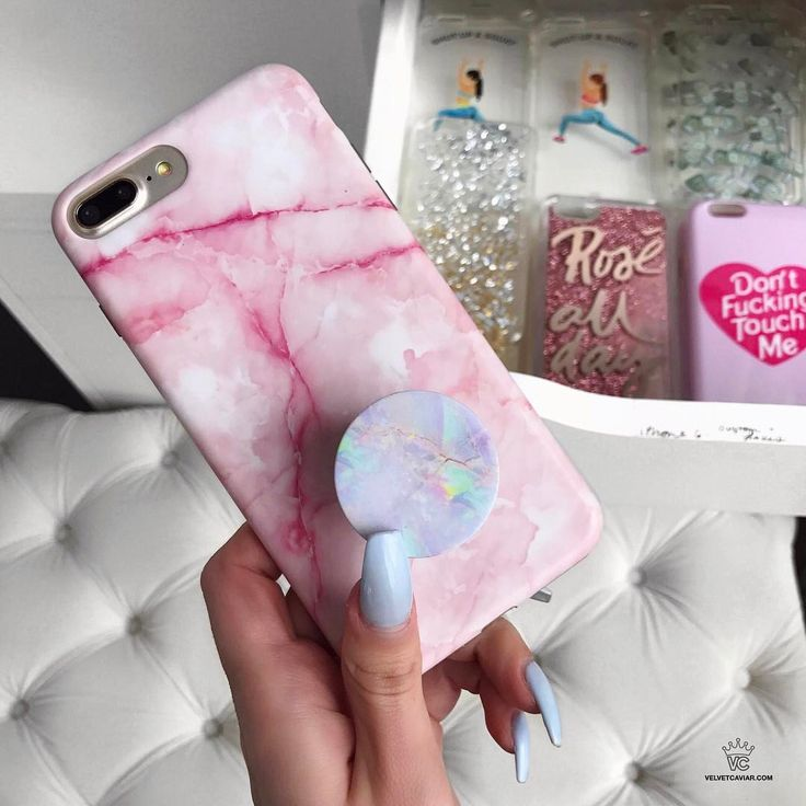 "9,409 Likes, 79 Comments - V E L V E T   C A V I A R (@velvetcaviar) on Instagram: ""Pink Streak  feels today with our fave Cotton Candy PopSocketavailable for iPhone 5, 6, 6+, 7 & 7+…"""