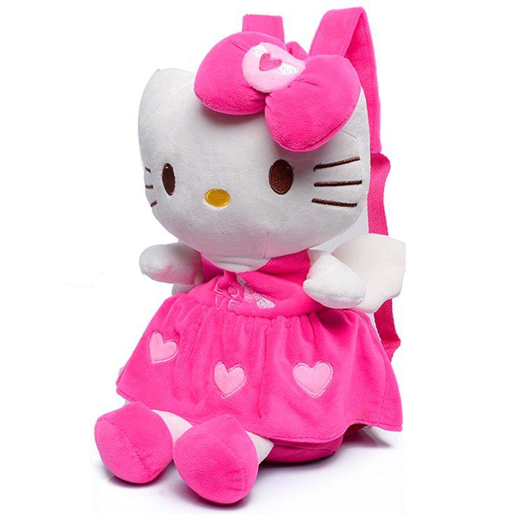 Suave encantadora de la felpa estéreo hello kitty bolso de escuela los niños de Mickey Minnie mochila de escuela para niñas niños mochila para 1-4years niños