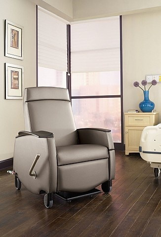 recliner with transfusion arm option from carolina business furniture