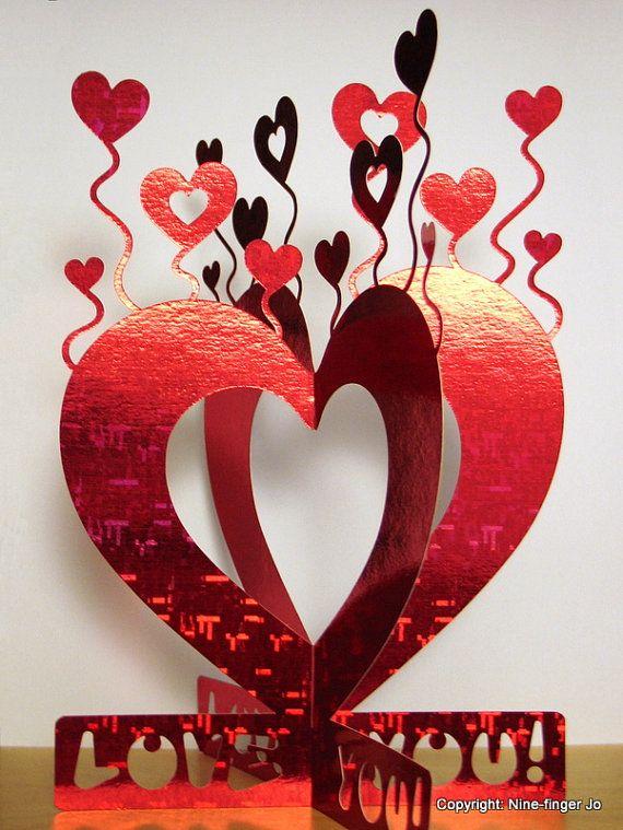 День, открытки к дню святого валентина киригами