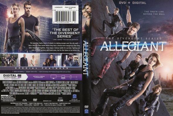 The Divergent Series: Allegiant  Latino Inglés  DVD9  The Divergent Series: Allegiant DVD9 | DVD FULL | NTSC | VIDEO_TS | 6.80 GB | Audio: Español Latino 5.1 Inglés 5.1 | Subtítulos: Español Latino Inglés | Menú: Si | Extras: Si  Título original: The Divergent Series: Allegiant Año: 2016 Duración: 121 min. País: Estados Unidos Director: Robert Schwentke Guión: Noah Oppenheim Adam Cooper Bill Collage (Libro: Veronica Roth) Música: Joseph Trapanese Fotografía: Florian Ballhaus Reparto…