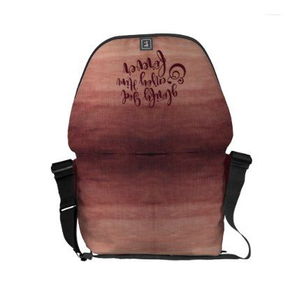 """""""Glorify & Enjoy God"""" Small Messenger (Bordeaux) Small Messenger Bag - red gifts color style cyo diy personalize unique"""