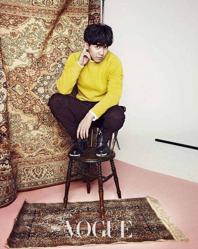Lee Seung Gi Is A Mismatched, Lazy Charmer For Vogue Korea's January 2015 Edition | Couch Kimchi