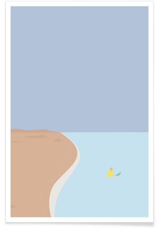 Fornøjelse Surf No. 02 als Premium Poster door Swen Swensøn | JUNIQE